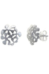 Silver Spills Stud Earrings