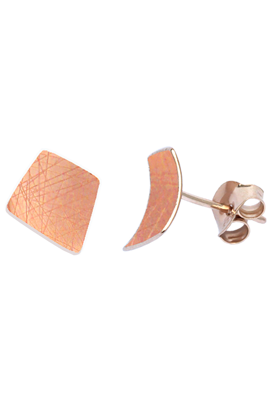 Rose Gold-Plated Stud Earrings