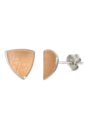 Rose-Gold Plated Sterling Silver Stud Earrings / Nina B Jewellery
