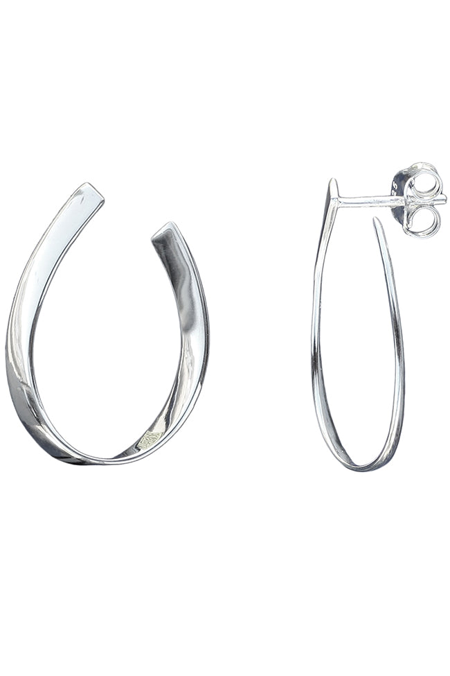 Silver Open Hoop Earrings | Nina B Jewellery