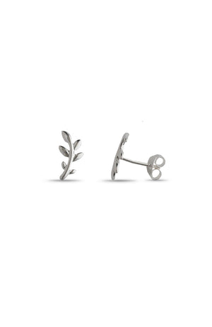 Silver Branch Stud Earrings | Nina B Jewellery