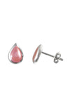 Pink Mother of Pearl Silver Stud Earring / Nina B Jewellery