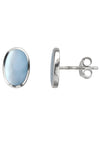 Blue Mother of Pearl Silver Stud Earrings / Nina B Jewellery