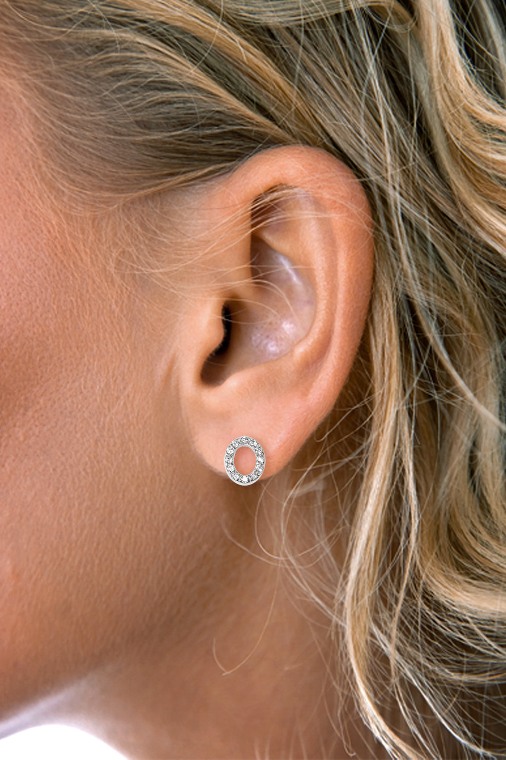 Oval CZ Earrings