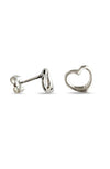 Silver heart stud earrings | Nina B Jewellery