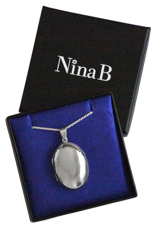 Plain Silver Large Locket Pendant