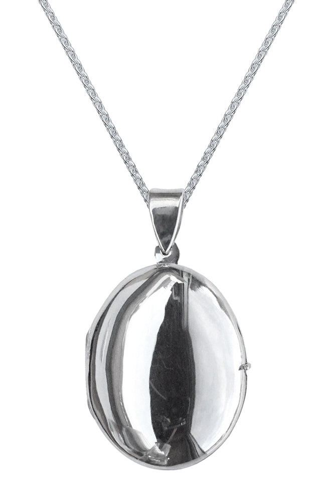 Silver Locket on long chain / Nina B Jewellery