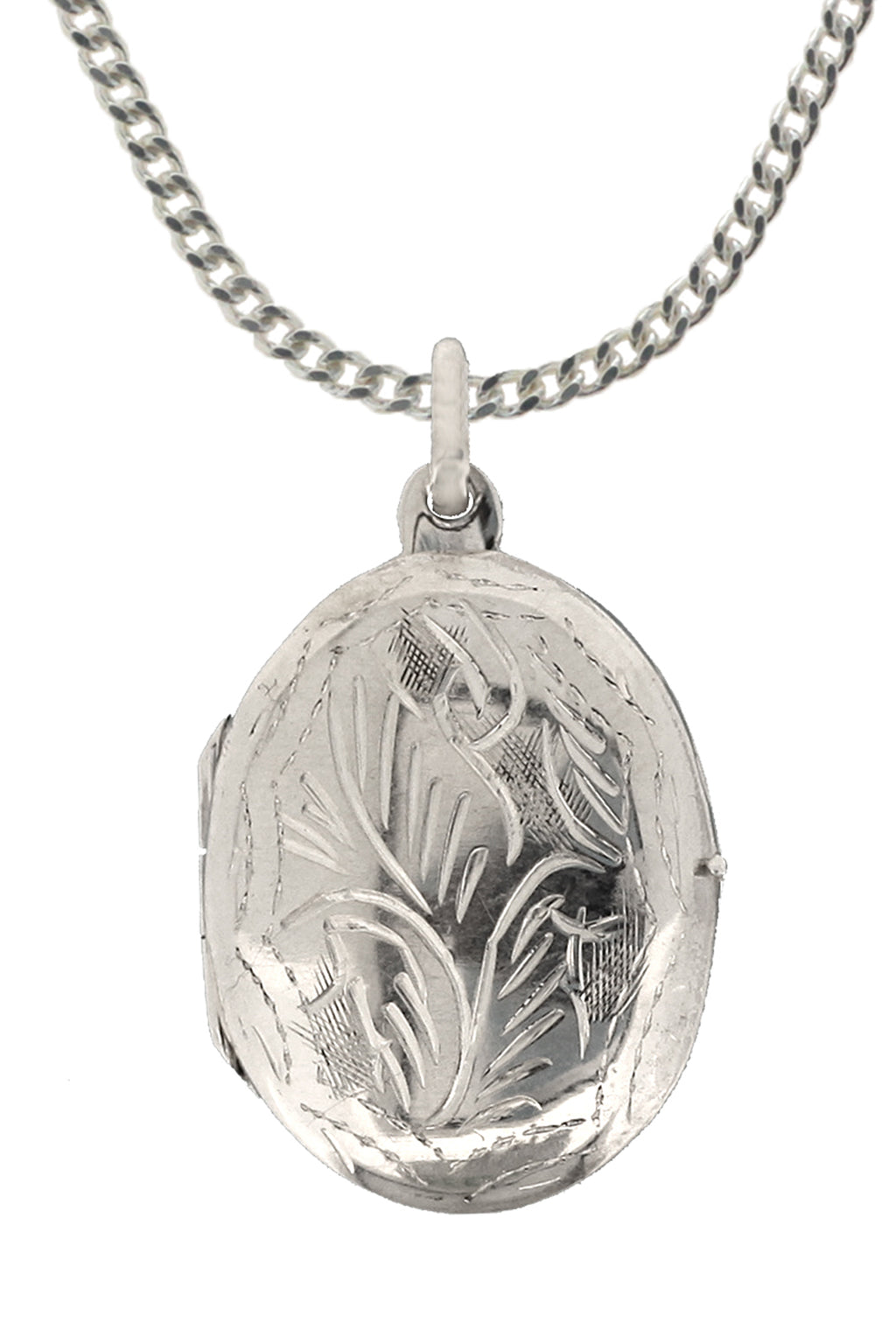 Engraved Sterling Silver Locket