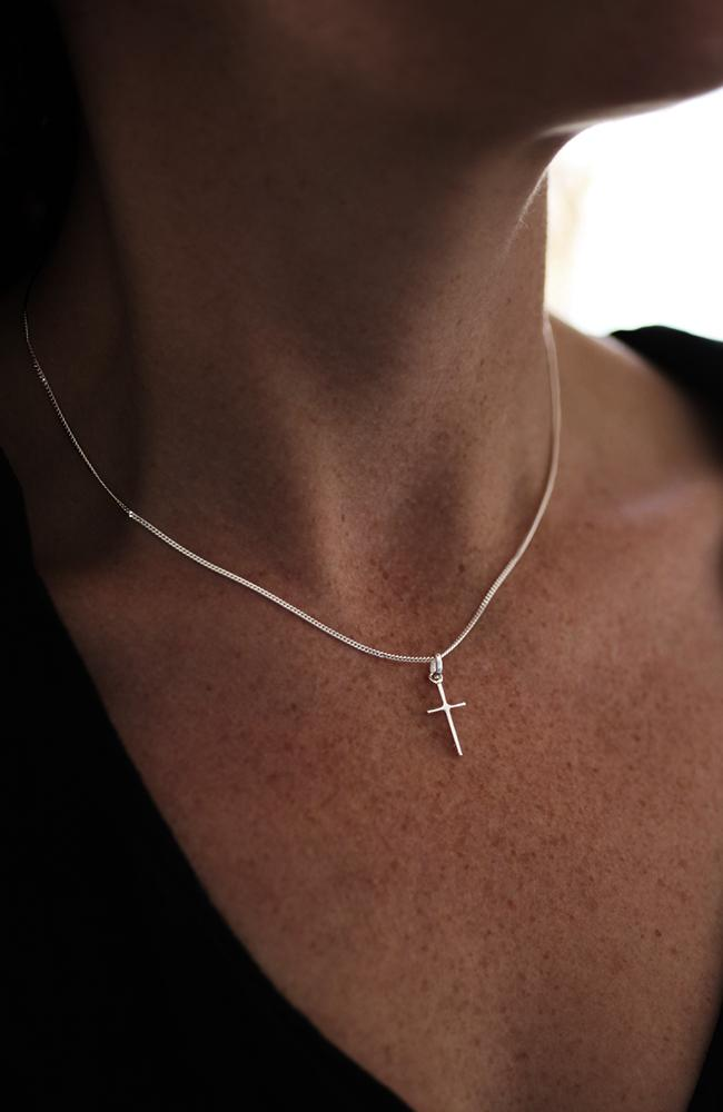 Silver Slim Cross Pendant