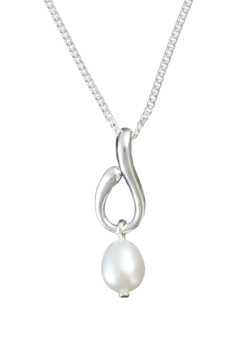 Freshwater Pearl Drop Silver Pendant