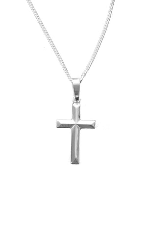 Silver Polished Cross Pendant