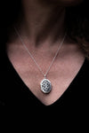 Sterling Silver Filigree Locket & Chain