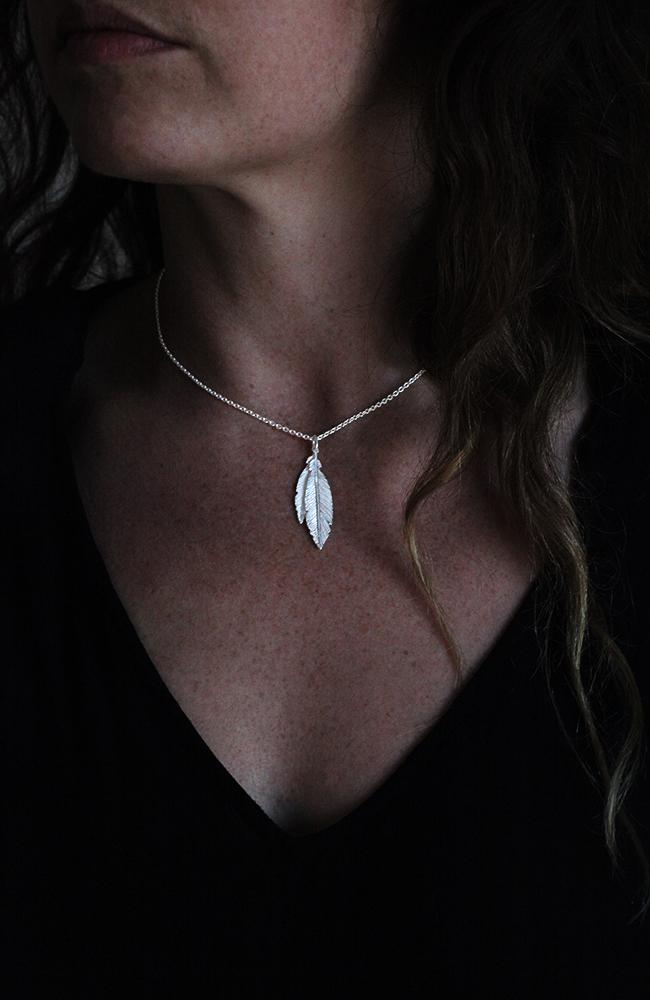 Silver Feather Pendant