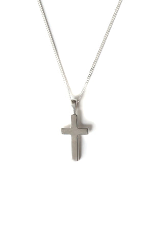 Silver Small Flat Cross Pendant