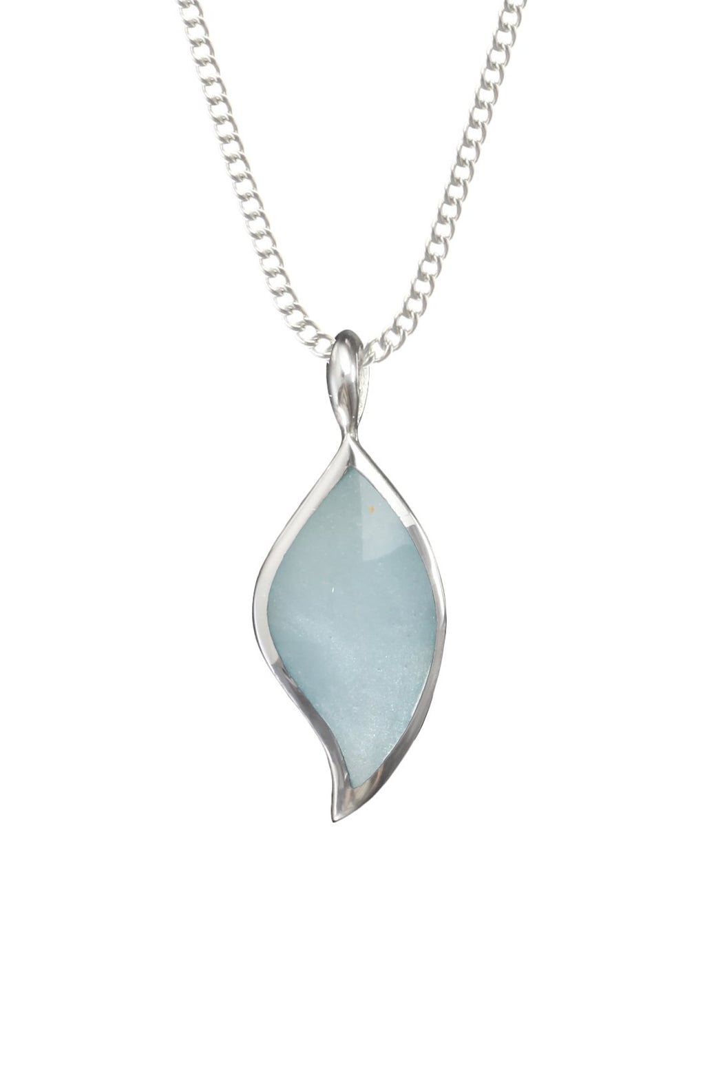 Blue Mother of Pearl Silver Pendant / Nina B Jewellery