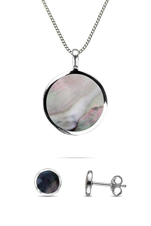 Mother of Pearl Round Jewellery Set