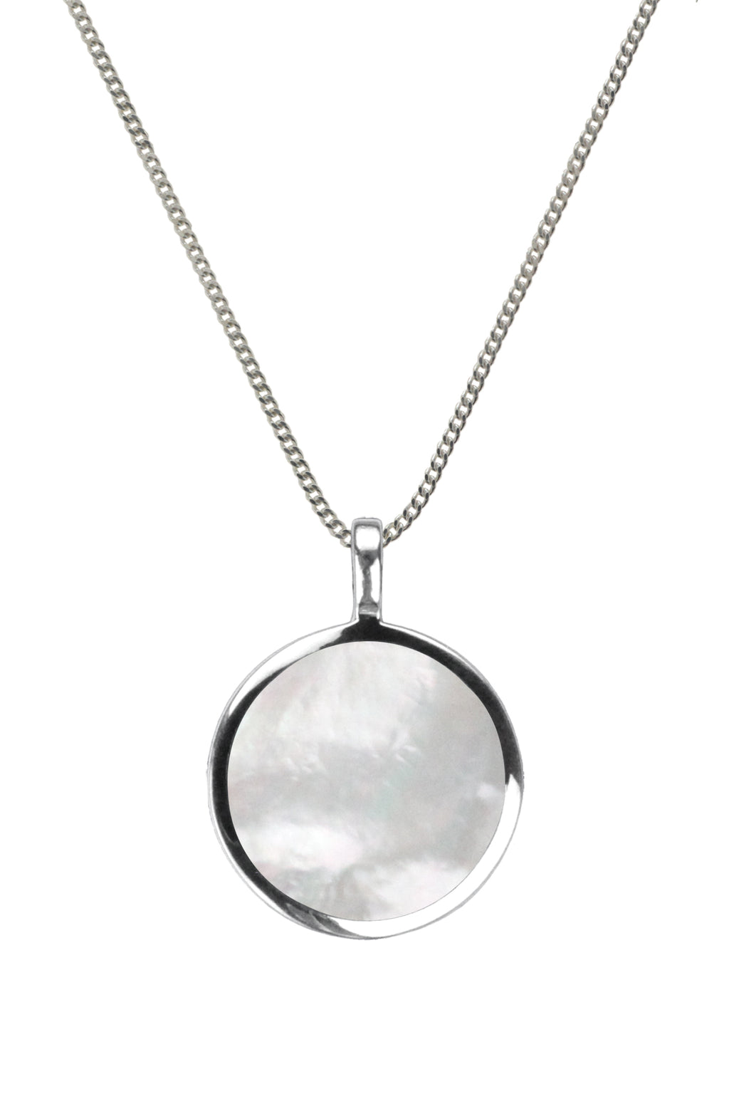 Mother of Pearl Silver Pendant | Nina B Jewellery