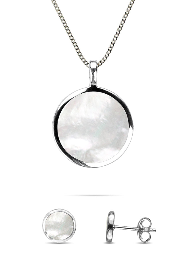 Mother of Pearl Silver Jewellery Set | Nina B Jewellery