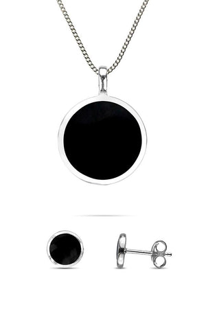 Onyx Circular Earrings