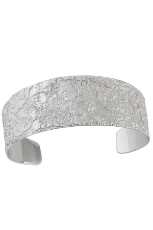Silver textured cuff bangle / Nina B Jewellery