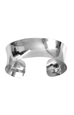 Silver Concave Cuff Bangle / Nina B Jewellery