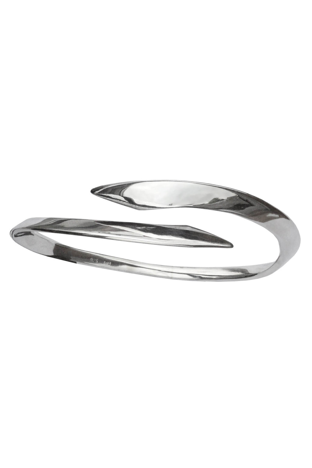 Polished Silver Edge Bangle