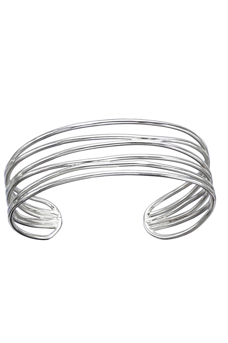Multi-strand Silver bangle / Nina B Jewellery