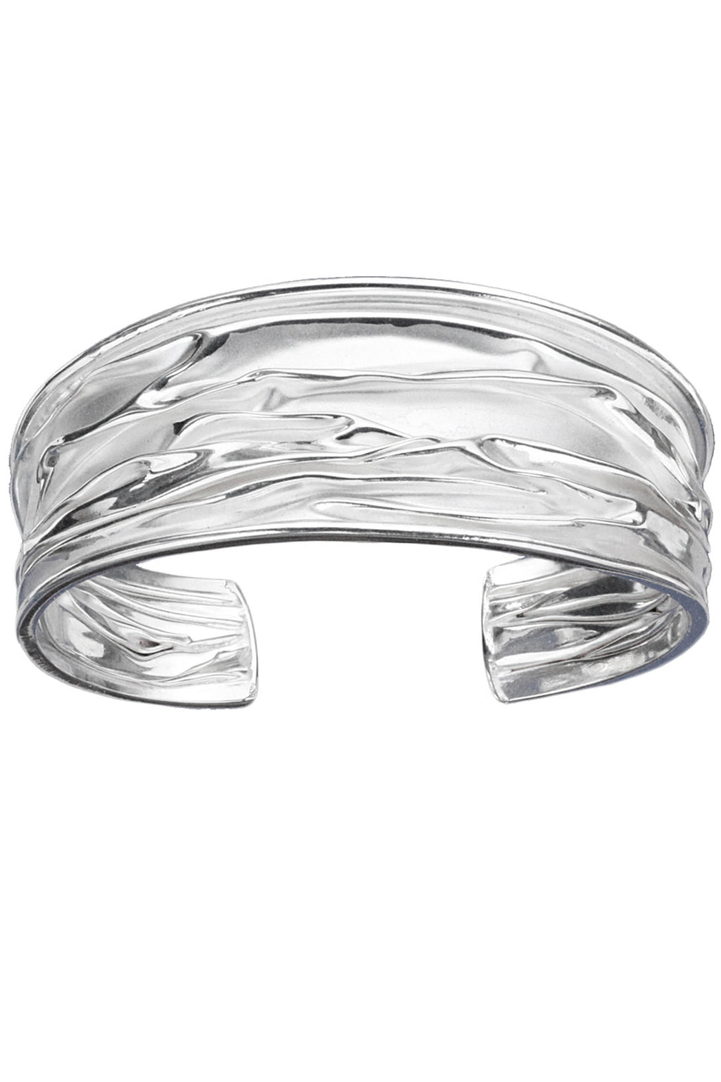 Creased Silver Cuff Bangle / Nina B Jewellery
