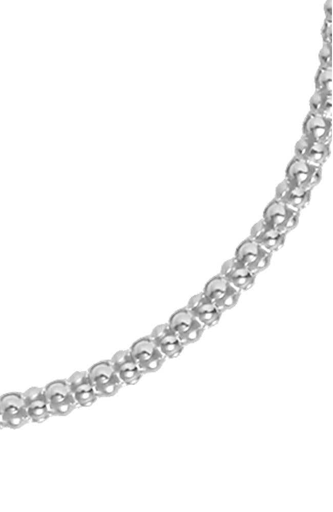 Silver Slim Popcorn Chain Necklace