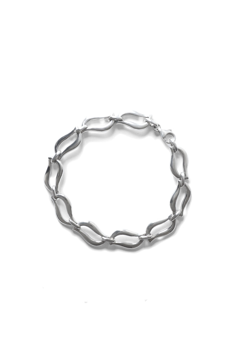 Fancy Link Lips Sterling Silver Bracelet