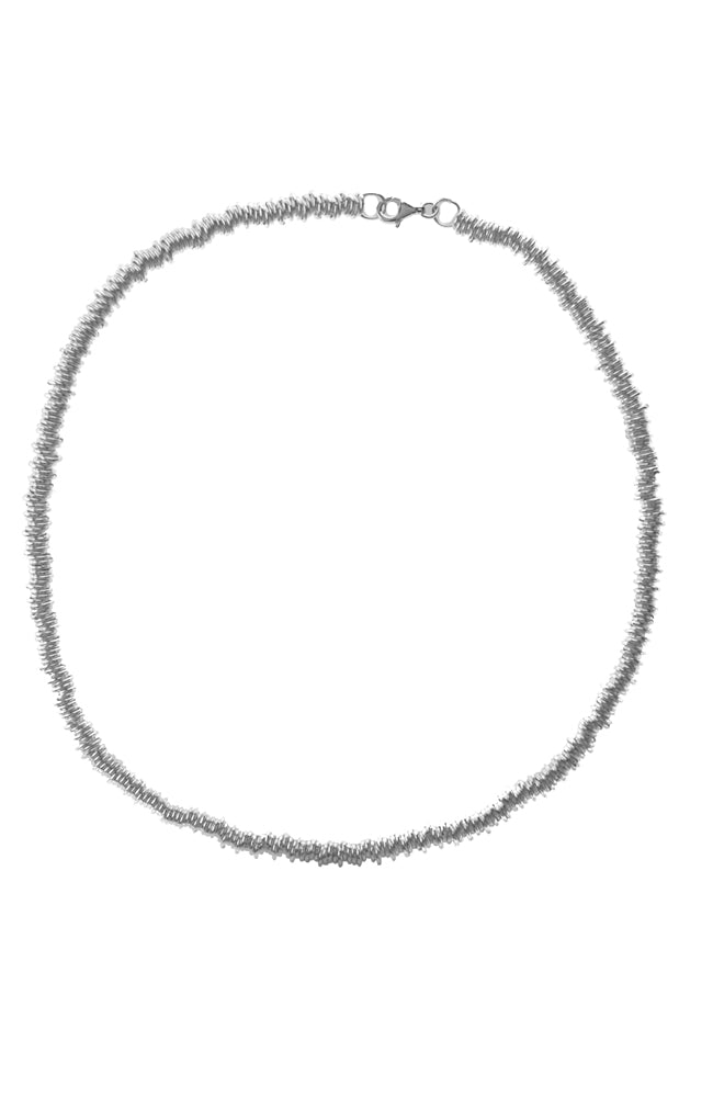 Silver Loop Chain Circles Necklace