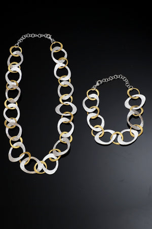 Brushed Silver & Gold Link Set