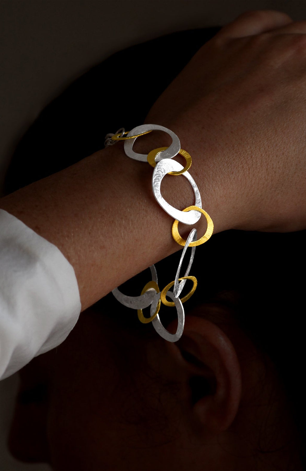 Silver and Gold Plated Open Link Bracelet