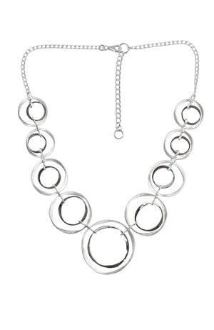 Silver Crooked Disc Necklet | Nina B jewellery