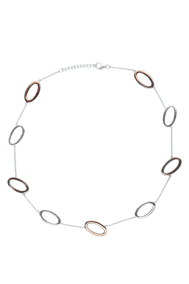 Silver & Rose Loop Necklet