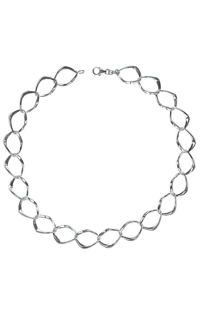 Sterling silver open link necklet / Nina B Jewellery