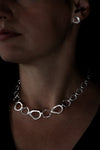 Distorted Open Link Silver Necklet