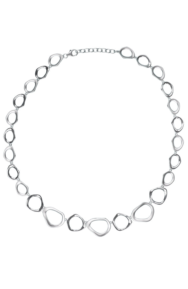 Silver Loop Necklet / Nina B Jewellery