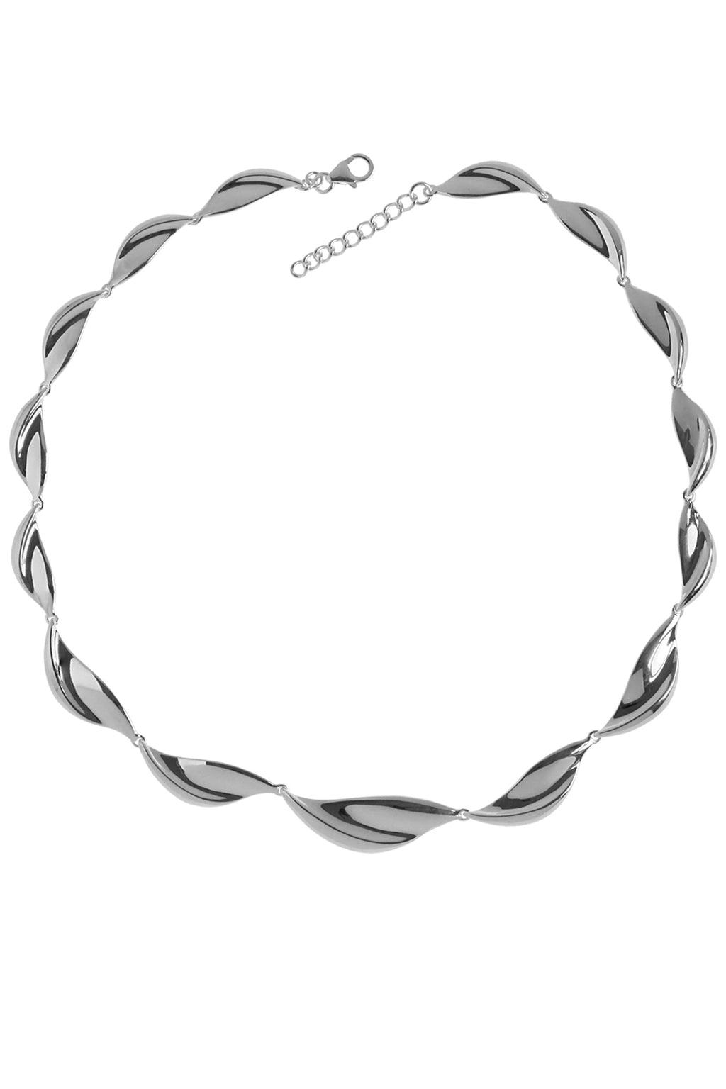 Silver twist necklet / Nina B Jewellery