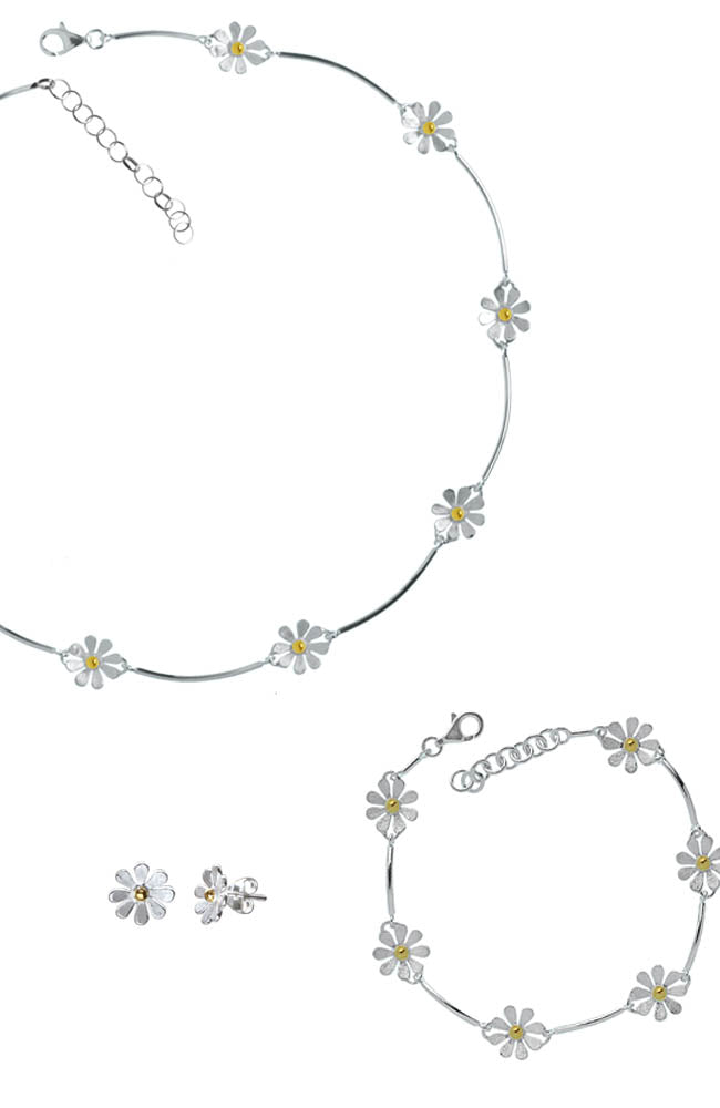 Daisy Chain Necklet Set