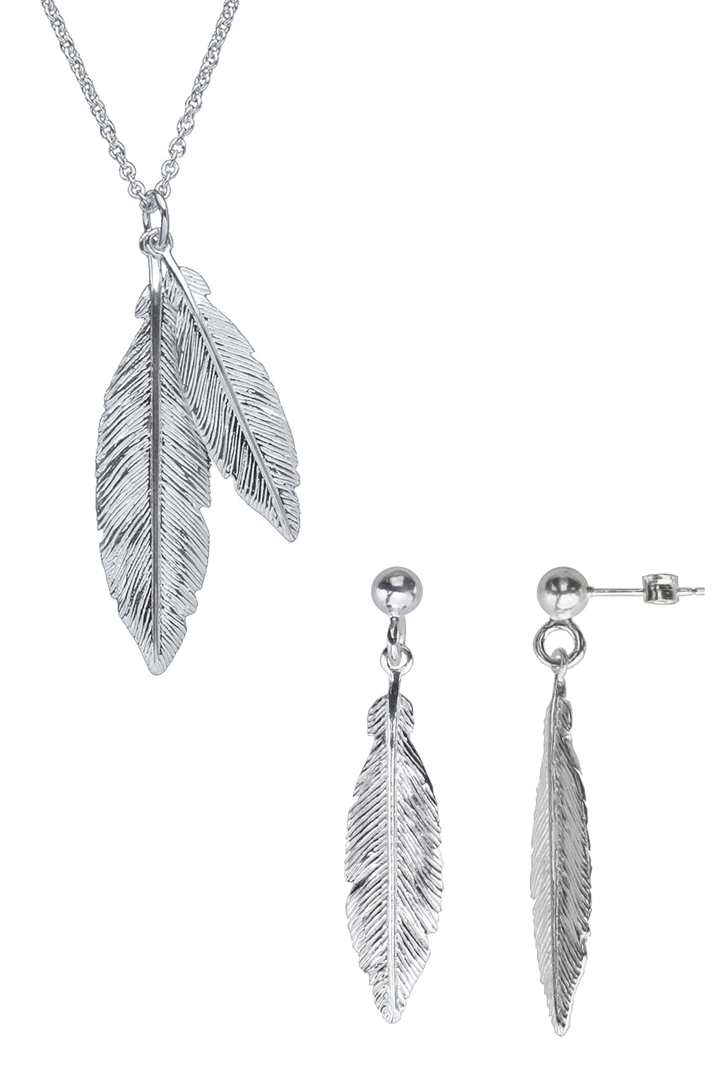 Silver Feathers Set