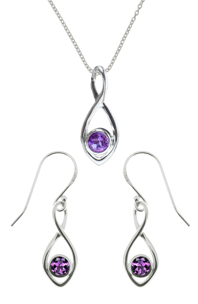 Silver Pendant & Earrings Set