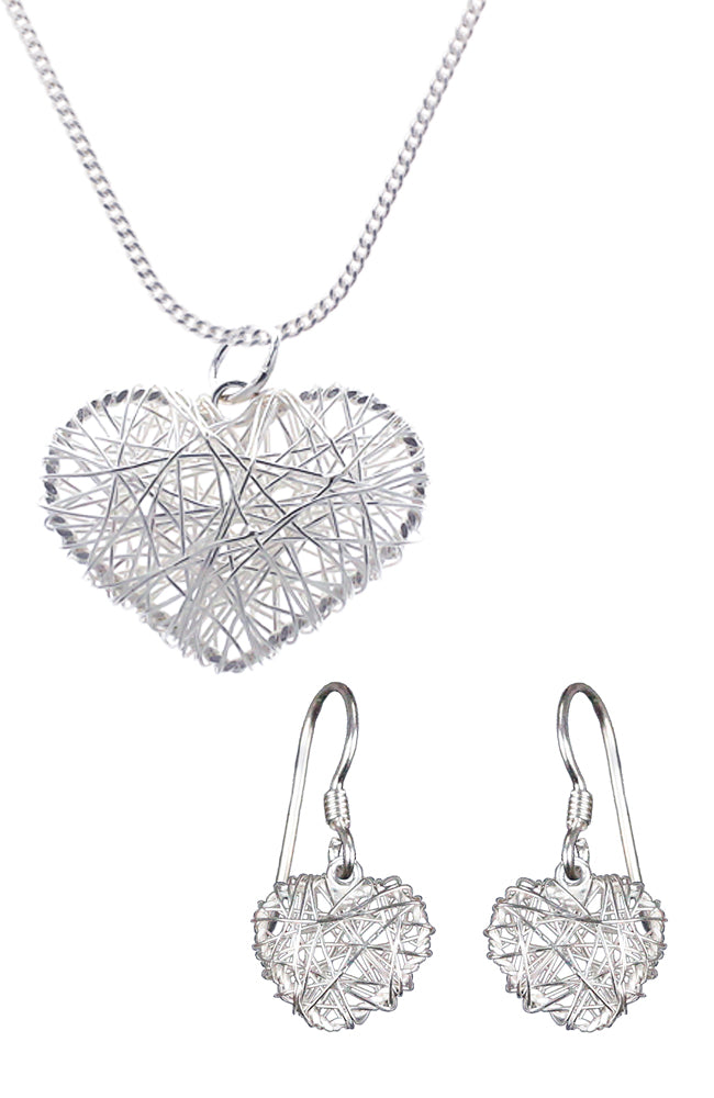 Silver Heart Nest Set