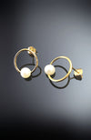 Circle Earrings With Pearl
