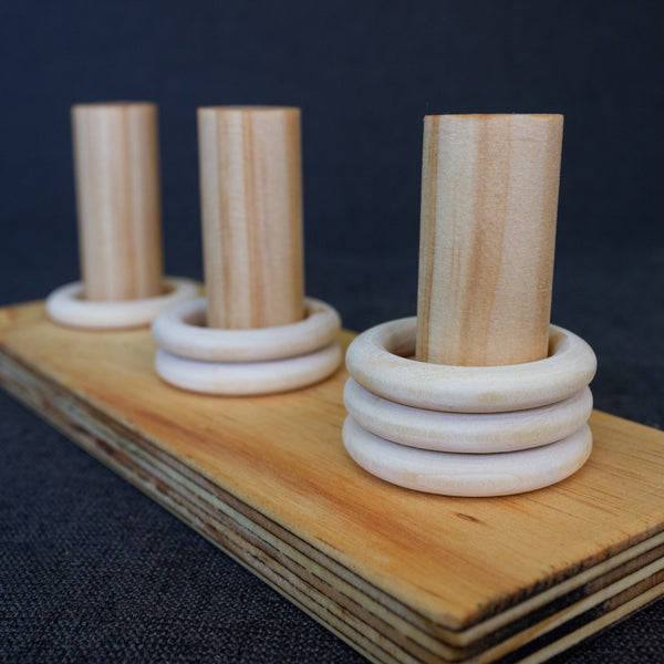 Wooden Three Stacker