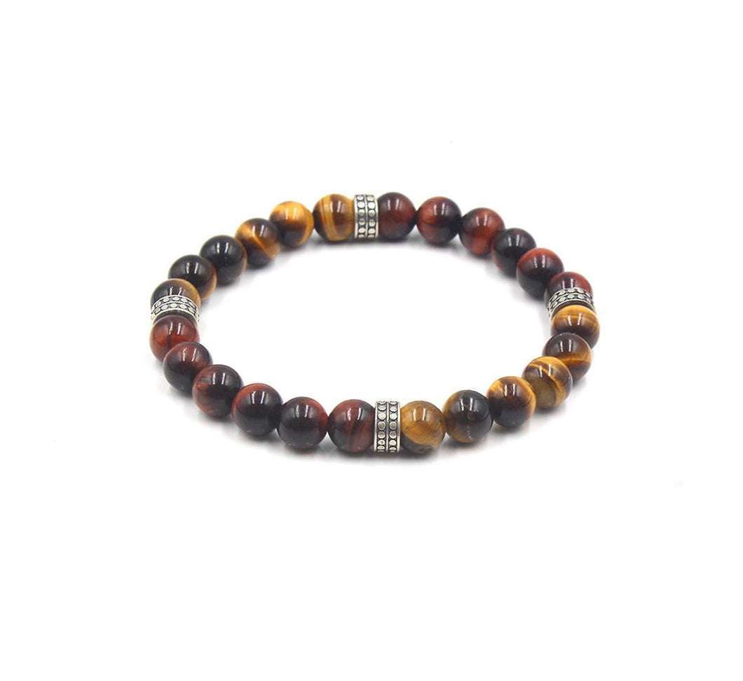 Mixed tigers eye and Sterling silver