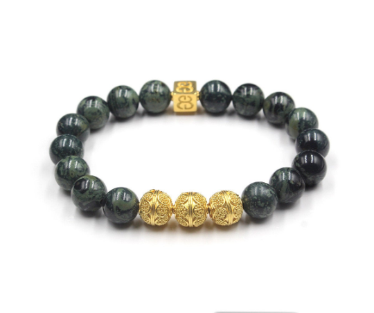 Dark Green Jade and Gold