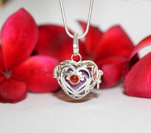 Sterling Silver Heart Chime Ball