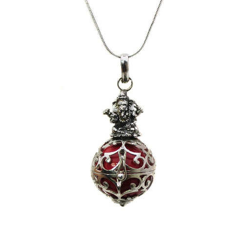Sterling Silver Ganesha Chime Ball