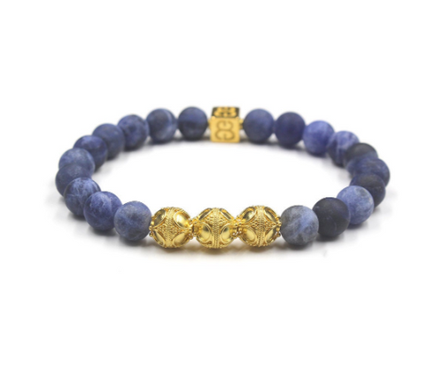Matte Sodalite and Gold